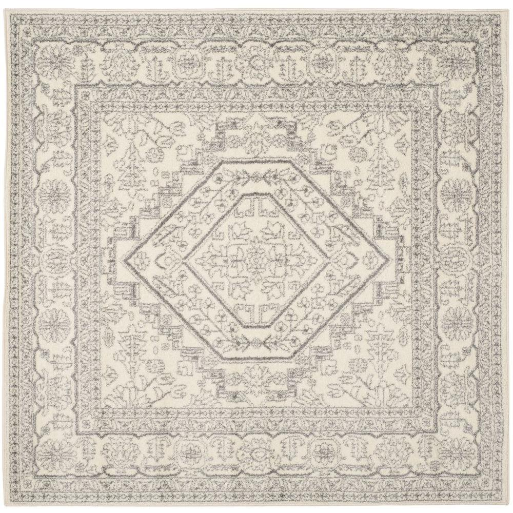 Safavieh Adirondack Ivory Silver 4 Ft X 4 Ft Square Area