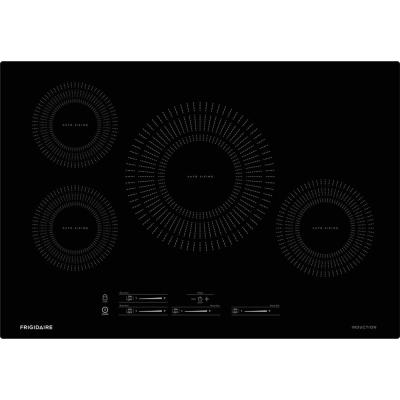 30 in. Induction Cooktop in Black with 4 Elements