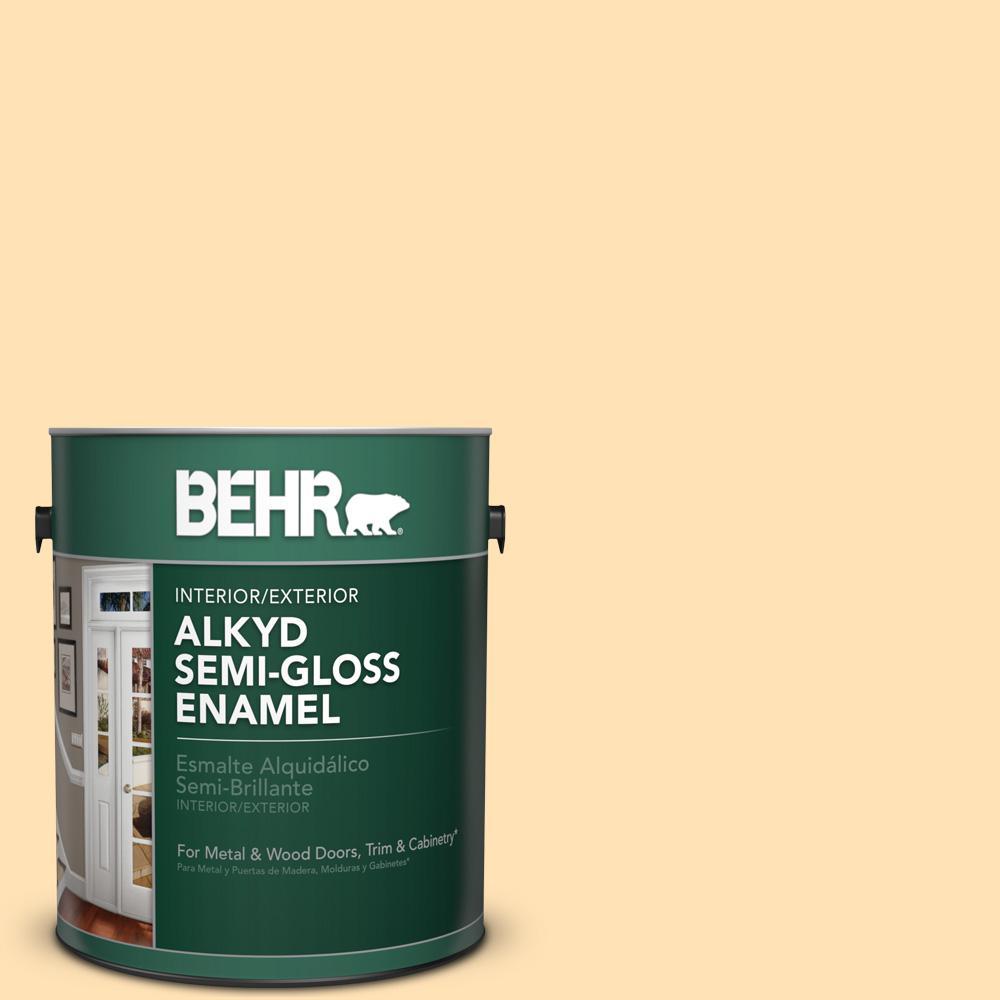 1 gal. #P250-2 Golden Nectar Semi-Gloss Enamel Alkyd Interior/Exterior Paint