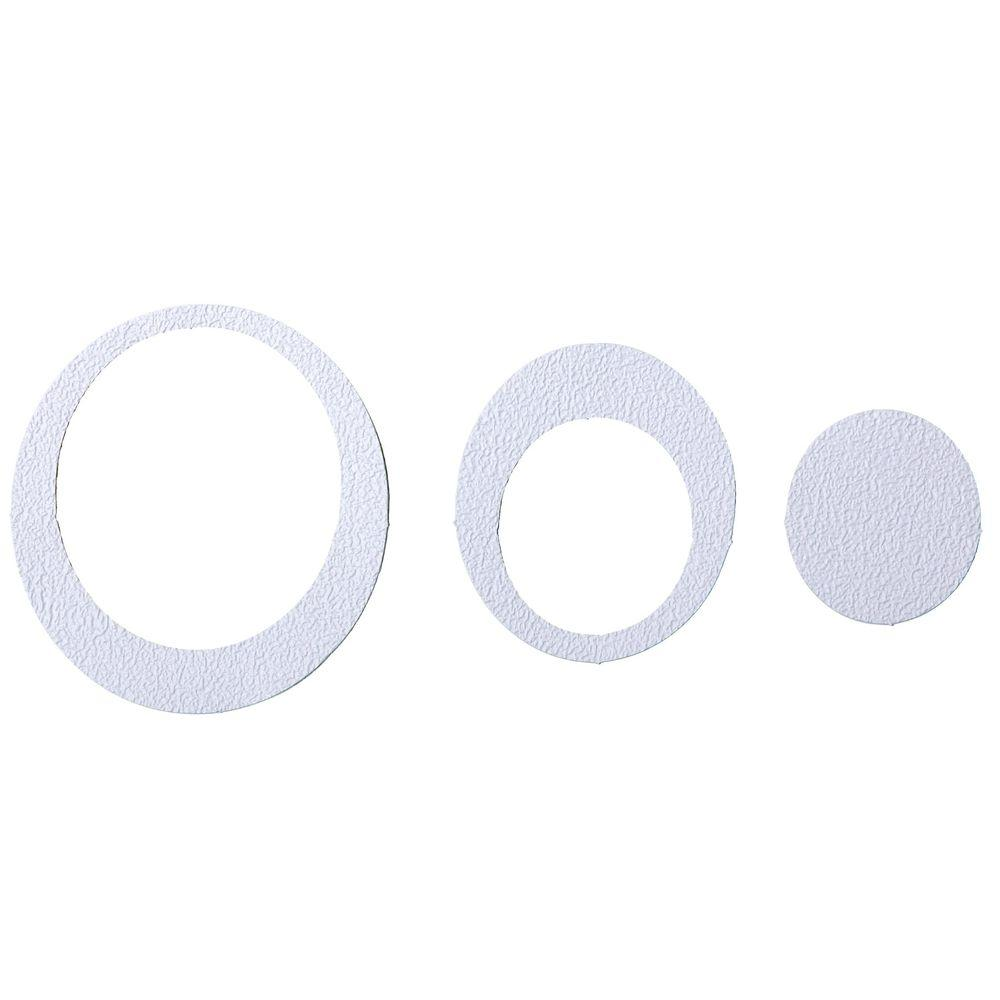 Adhesive Oval Treads in White (21-Count)