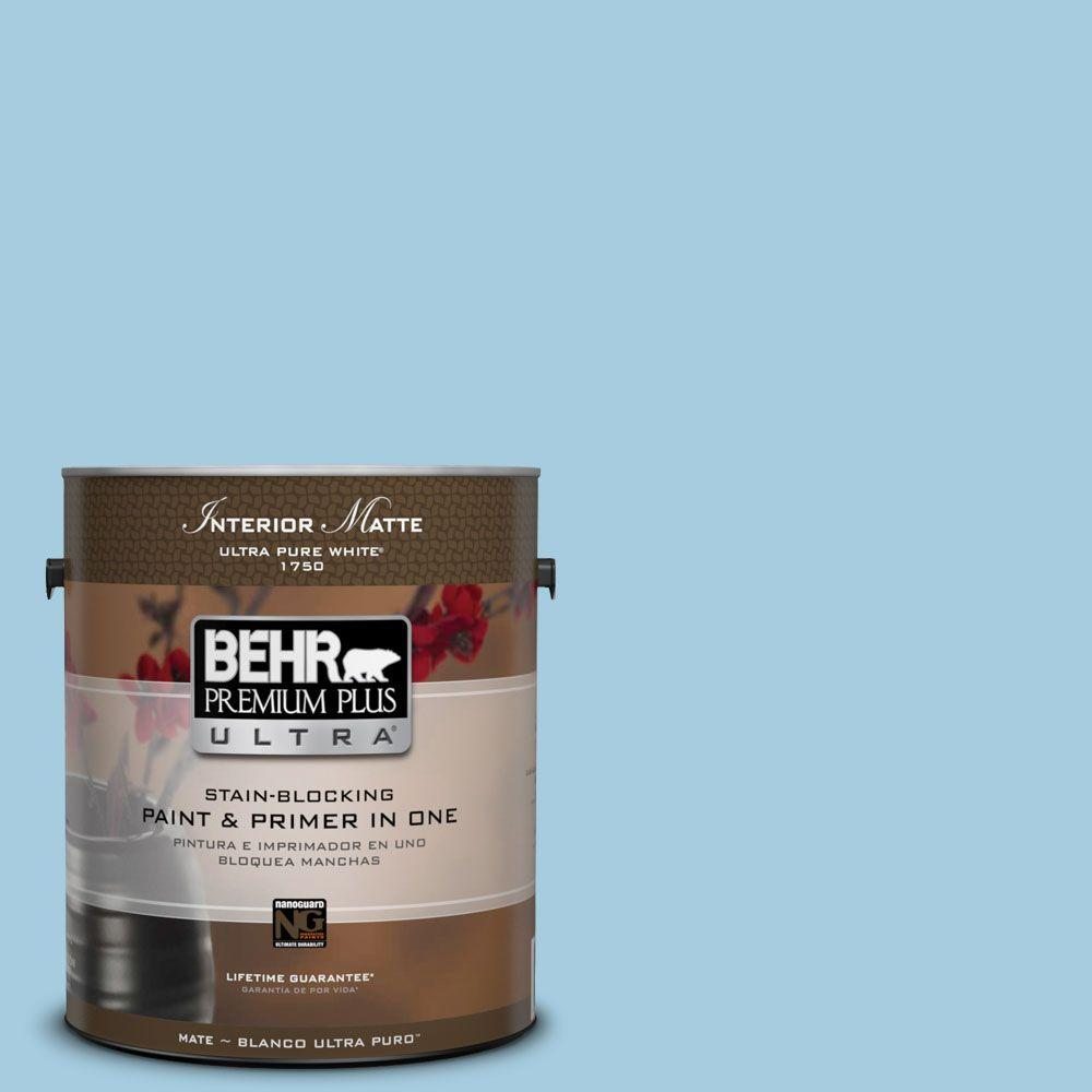 1 gal. #M490-2 Carefree Sky Matte Interior Paint