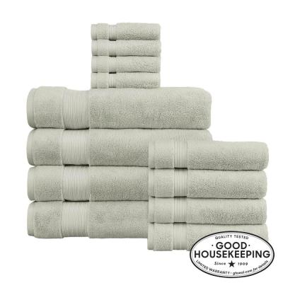 Egyptian Cotton 12-Piece Bath Sheet Towel Set in Sage