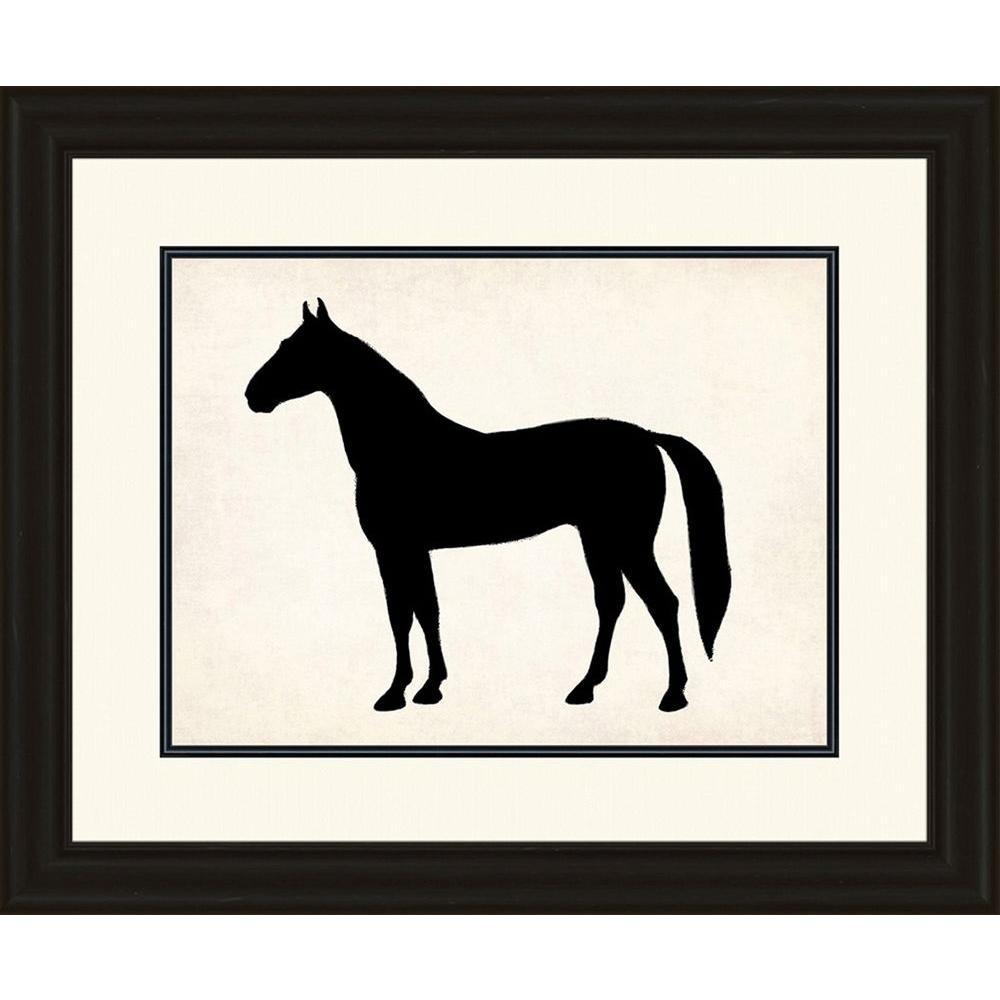 "25 in. x 29 in. ""Horse Silhouette"" Framed Wall Art"