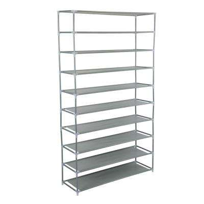 50 Pair Grey Shoe Rack