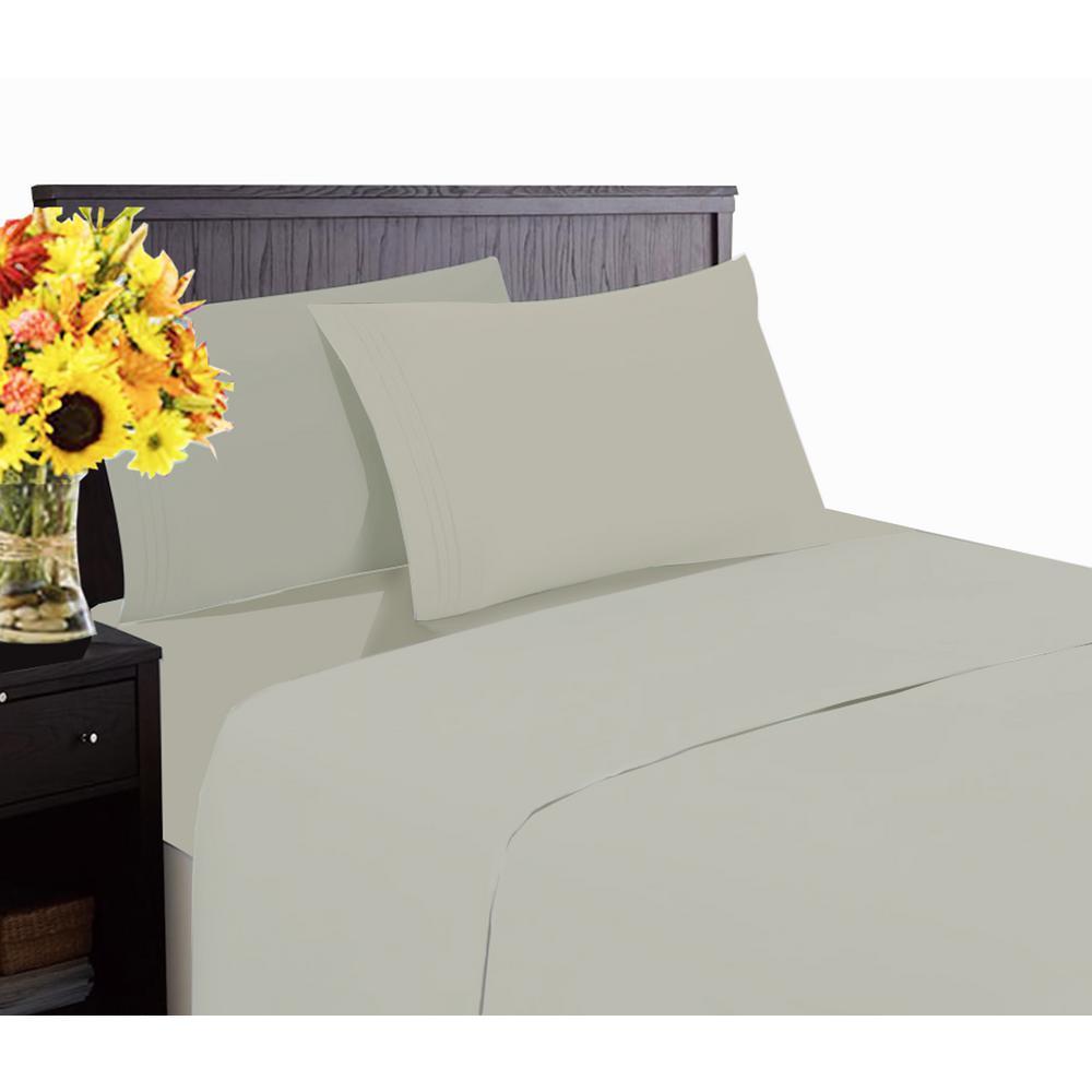Lintex Hotel Collection 1800 6-Piece Gray Cotton/Polyester Queen Sheet Set by Lintex
