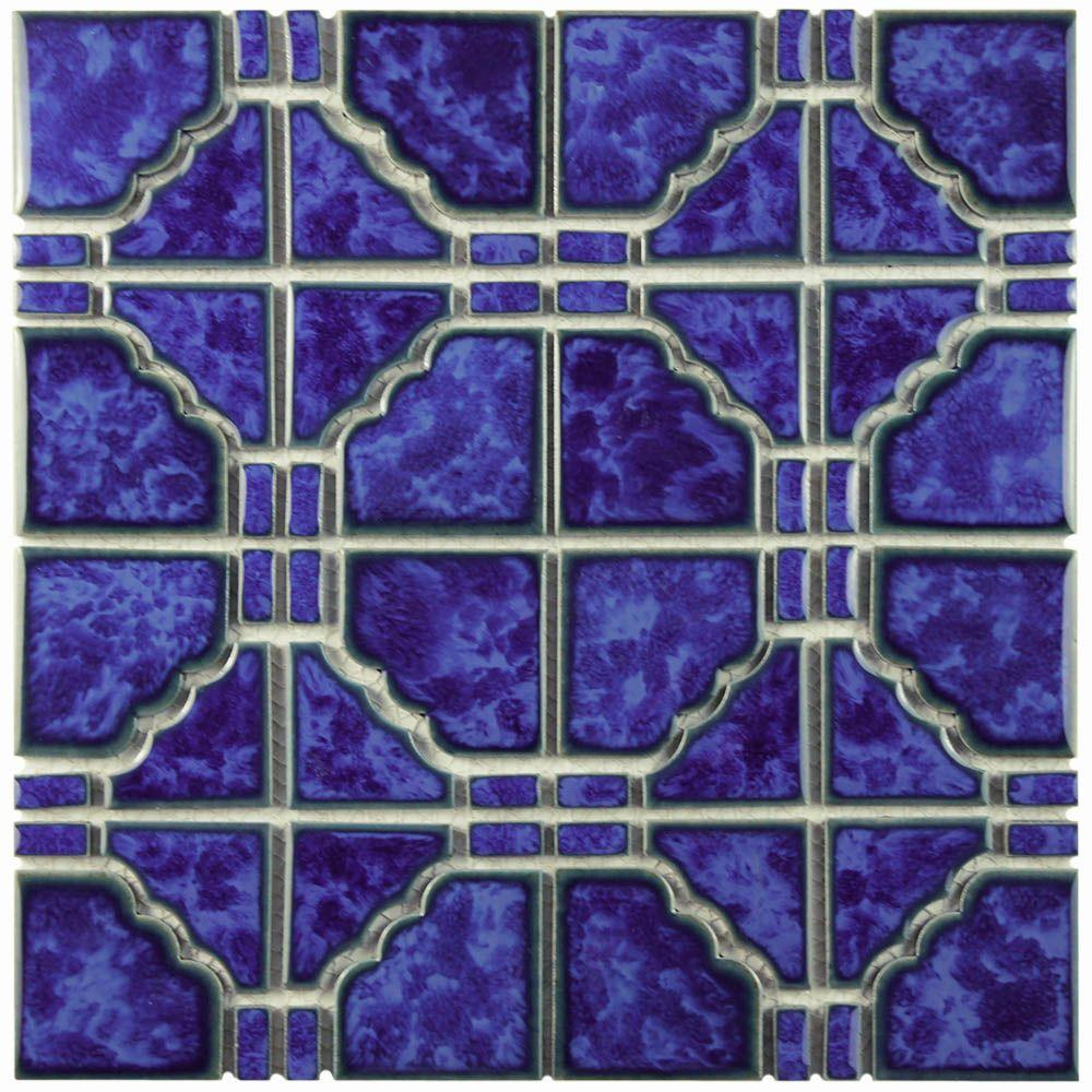 Merola Tile Osaka Blue Cloud 11-3/4 in. x 11-3/4 in. x 6 ...