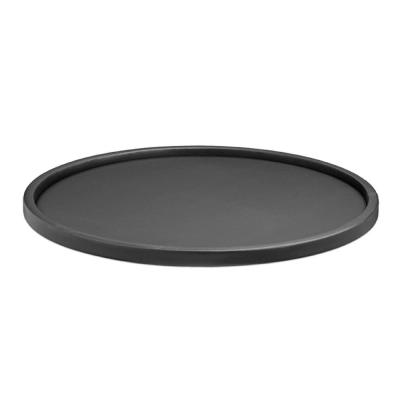 Contempo 14 in. Round Serving Tray in Black