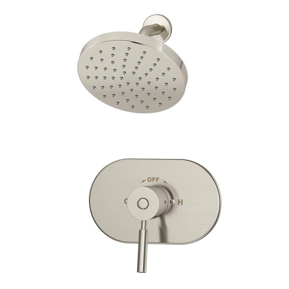Sereno 1-Spray Single-Handle Shower Faucet in Satin Nickel (Valve Included)