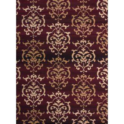 Dallas Countess Burgundy 5 ft. x 7 ft. Indoor Area Rug