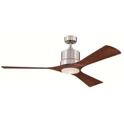 Phantom 54 in. Brushed Nickel Indoor LED Ceiling Fan with Remote Control
