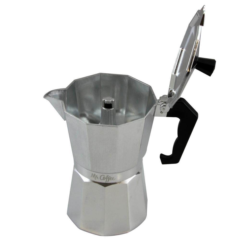 Brixia 6-Cup Aluminum Stovetop Expresso Maker