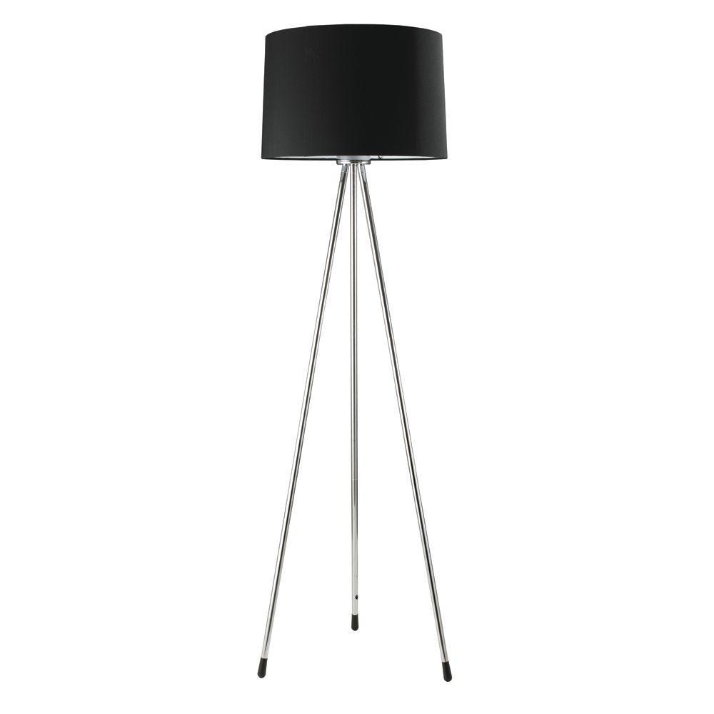 Ore International 59 In 3 Legged Black Floor Lamp