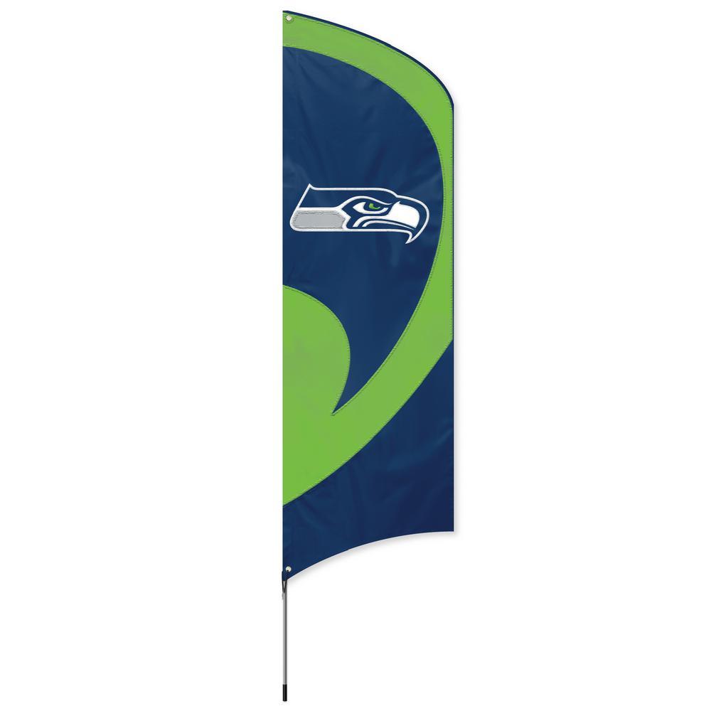 Seattle Seahawks Tall Team Flag