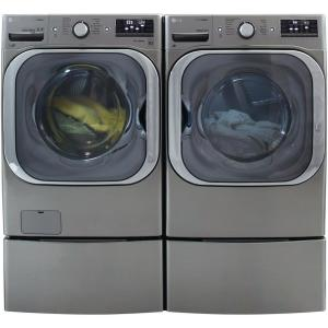 LG Electronics 5 2 cu  ft  High-Efficiency Front Load Washer with Steam and  TurboWash in Graphite Steel, ENERGY STAR