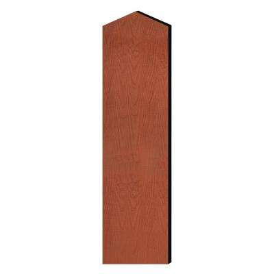 Laminate Double End Side Panel with Sloping Hood for 72 in. H x 18 in. D Designer Wood Locker in Cherry