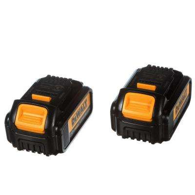 20-Volt MAX Lithium-Ion Premium Battery Pack 3.0Ah (2-Pack)