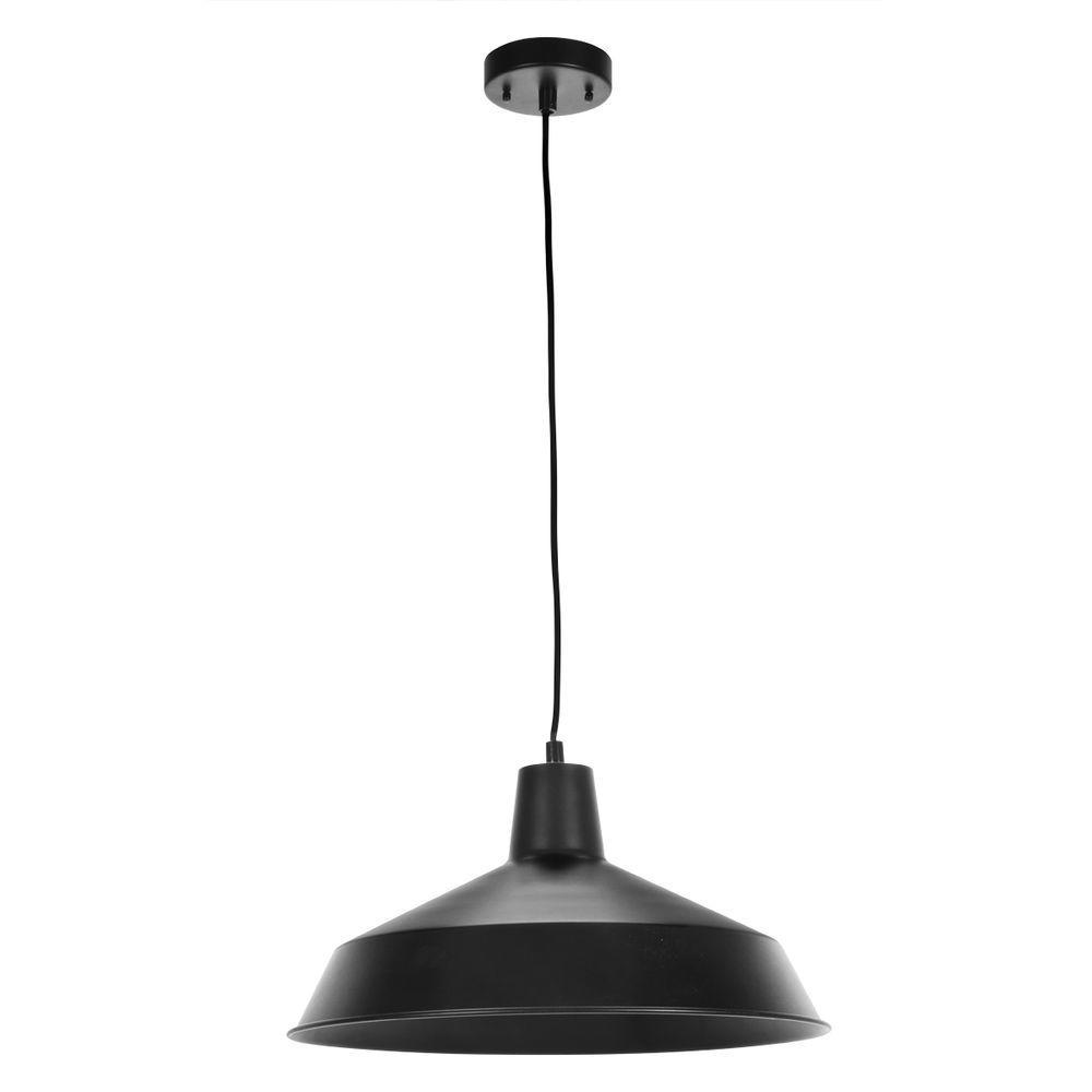 Globe Electric 1 Light Matte Black Barn Pendant