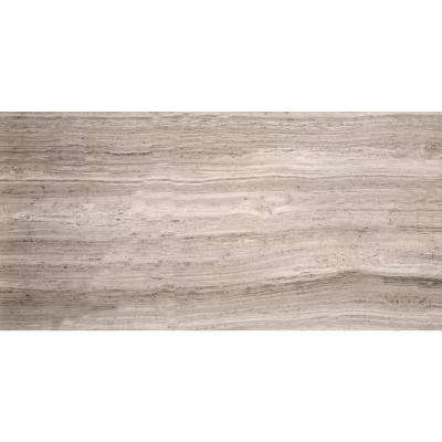 Limestone Gray Honed 12.01 in. x 24.02 in. Limestone Floor and Wall Tile