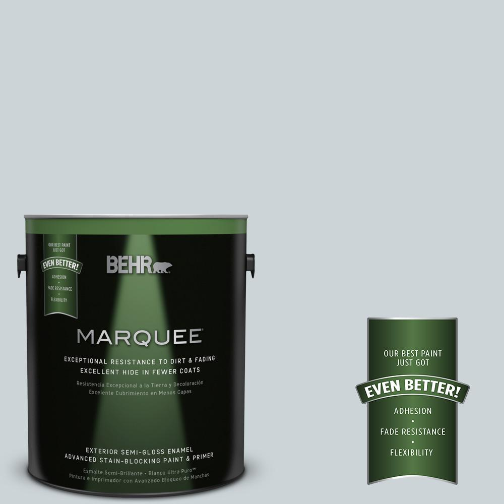 BEHR MARQUEE 1-gal. #N470-1 Ash Blue Semi-Gloss Enamel Exterior Paint
