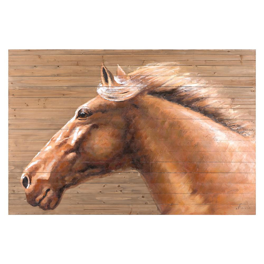 Yosemite home decor 48 in x 72 in equine profile iv for Home decor 72