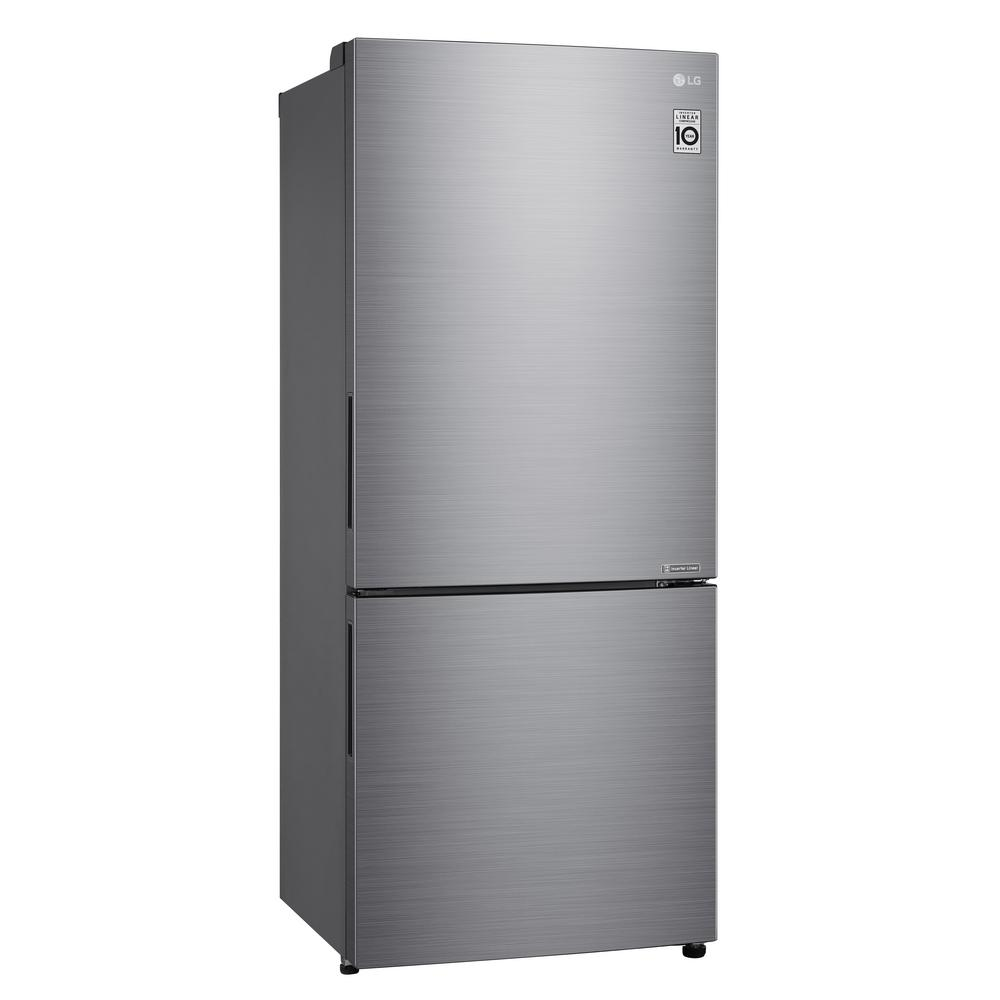 Lg Electronics 14 7 Cu Ft Bottom Freezer Refrigerator With Door Cooling And Reversible Door In Platinum Silver Lbnc15231v The Home Depot