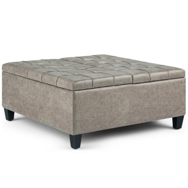 Sensational Simpli Home Ellis 36 In Contemporary Square Storage Ottoman Gmtry Best Dining Table And Chair Ideas Images Gmtryco