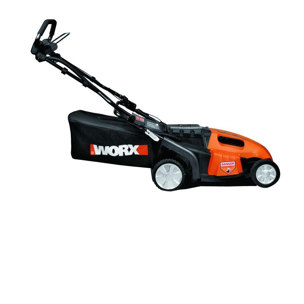 Worx 19 in. Walk-Behind Cordless Electric Lawn Mower