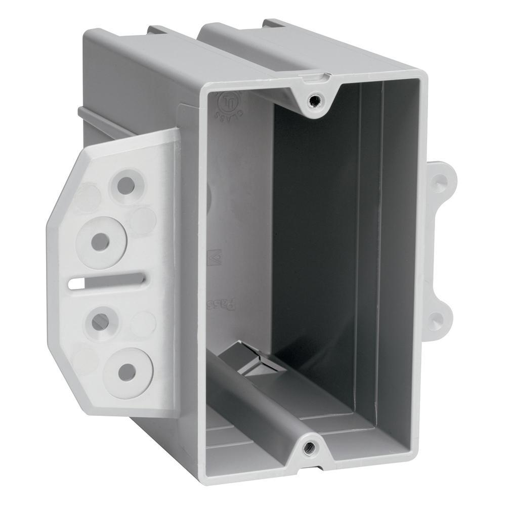 Pass & Seymour Slater Steel Stud 1-Gang Plastic Bracket Box