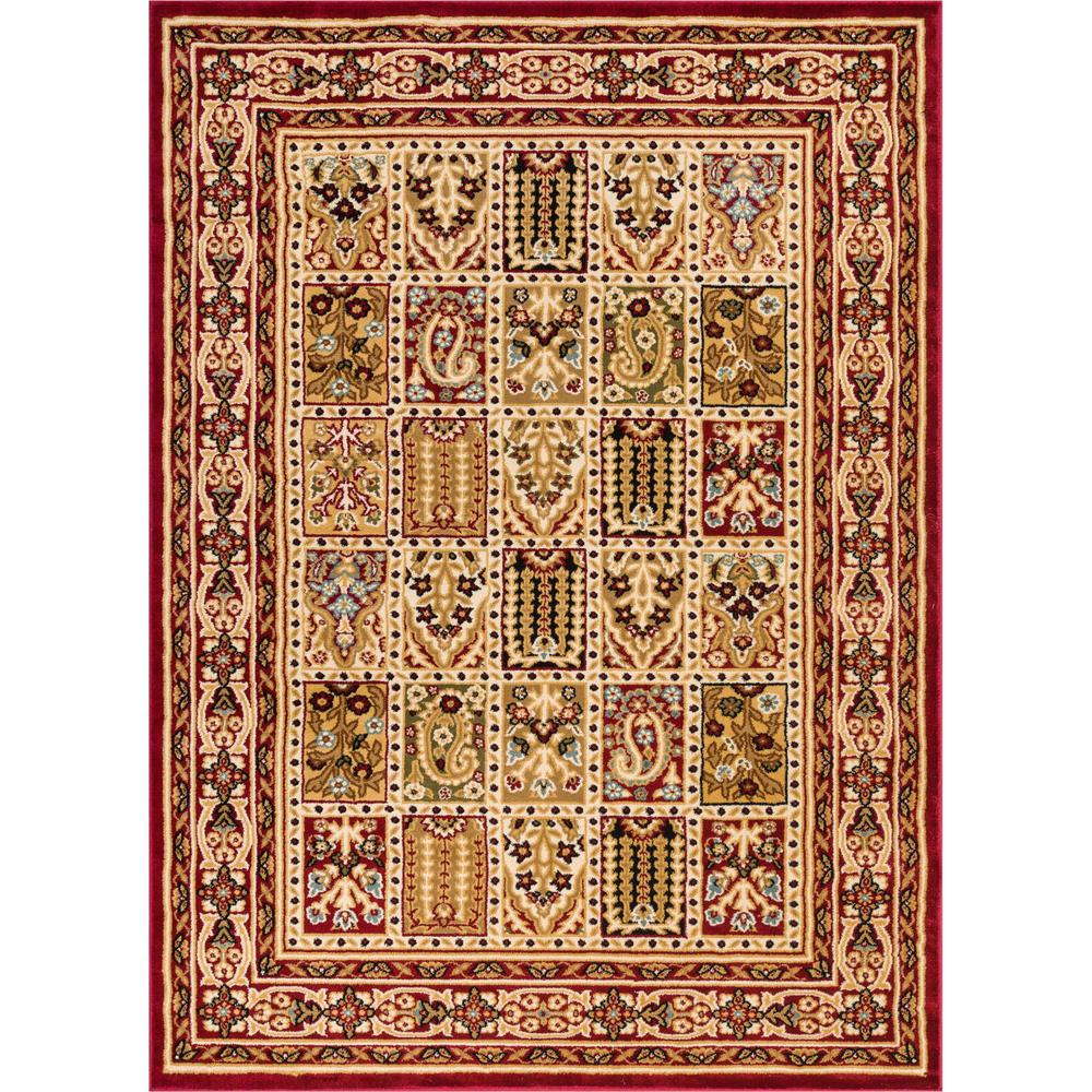 well woven timeless cordelia garden red traditional panel 11 ft x 15 ft area rug 3650t the. Black Bedroom Furniture Sets. Home Design Ideas