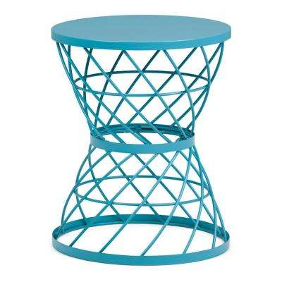 Rodney Turquoise Metal Accent Table