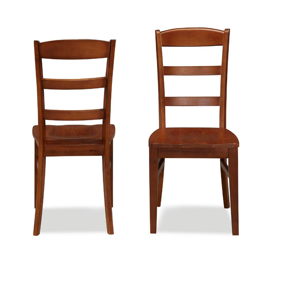 Cherry Dining Room Chairs: Home Styles Aspen Rustic Cherry Wood Ladder Back Dining