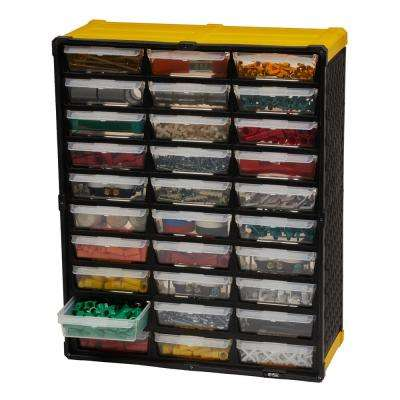 30-Compartment Small Parts Organizer, Yellow