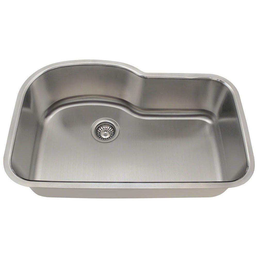 Undermount Stainless Steel 31 in. Single Bowl Kitchen Sink