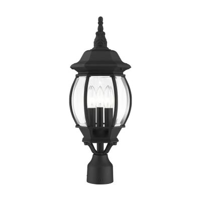 Frontenac 3-Light Textured Black Post Top Lantern