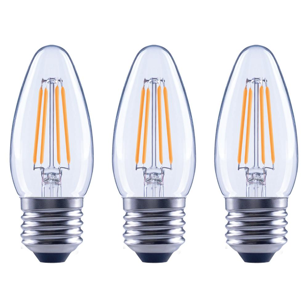 Ecosmart 40w Equivalent Soft White A19 Dimmable Filament: EcoSmart 40-Watt Equivalent B11 Dimmable Energy Star Clear