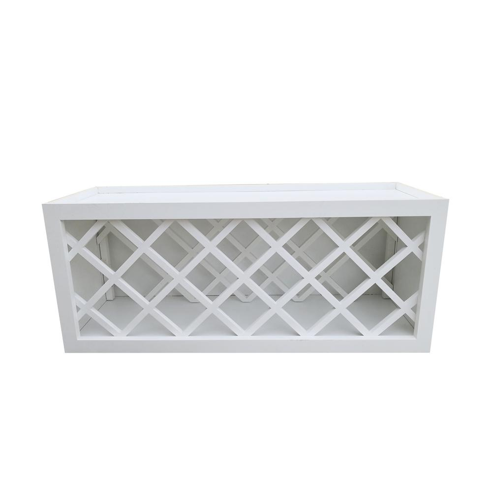 Bremen Ready To Emble 36x15x12 In Shaker Wall Wine Rack White