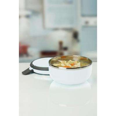 Kitchen Details Stainless Steel 1-Tier White Insulated Lunch Box