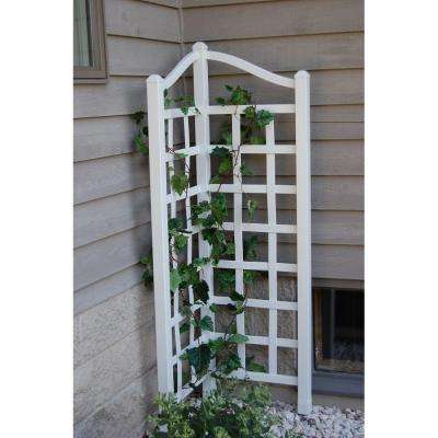 66 in. x 21 in. x 21 in. D White Vinyl PVC Oxford Trellis