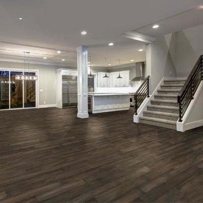 HS Smoked Gray Acacia 3/8 in. T x 5 in. W x Varying L Click Lock Exotic Engineered Hardwood Flooring(26.25 sq. ft./case)