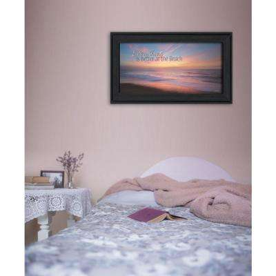 "9 in. x 18 in. ""At the Beach"" by Lori Deiter Printed Framed Wall Art"