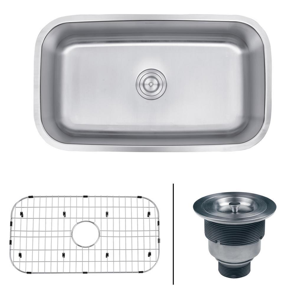Kitchen Sink Keeps Backing Up: Ruvati Undermount Stainless Steel 32 In. 16-Gauge Single