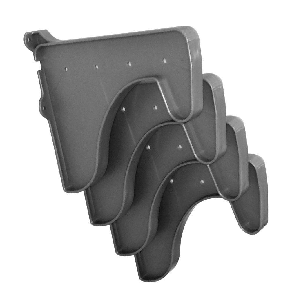 12 in. x 10 in. Silver Set of 4-Side End Brackets