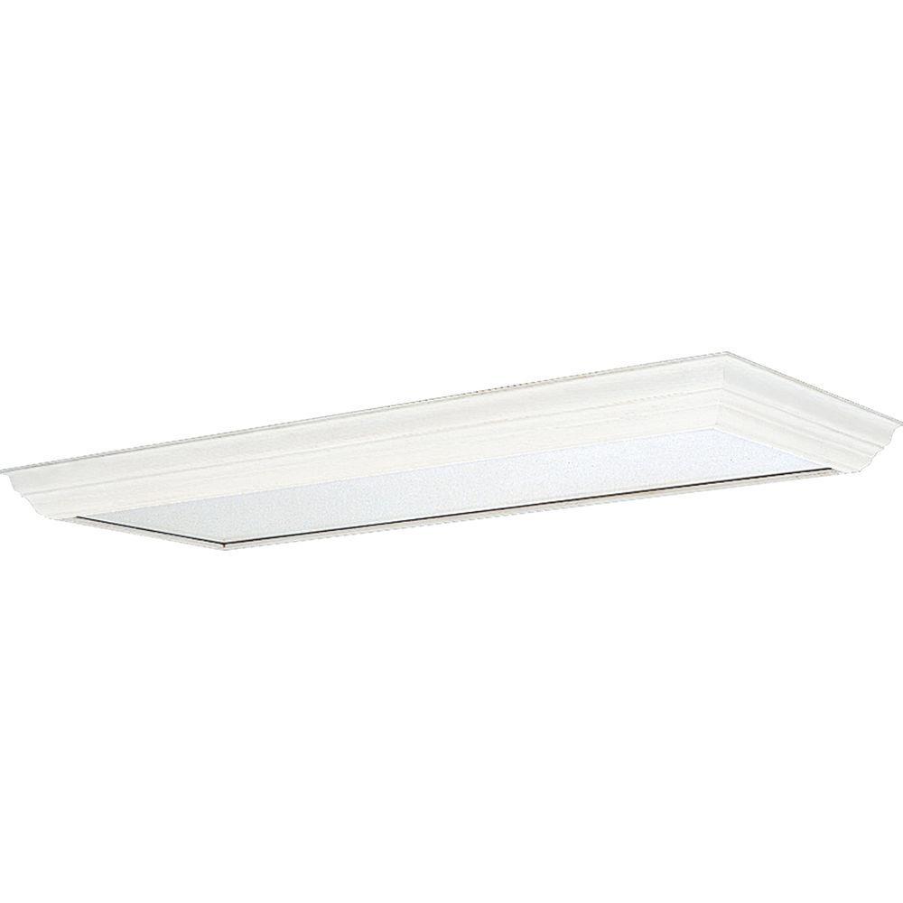 Progress Lighting White Fluorescent Fixture Diffuser-P7274
