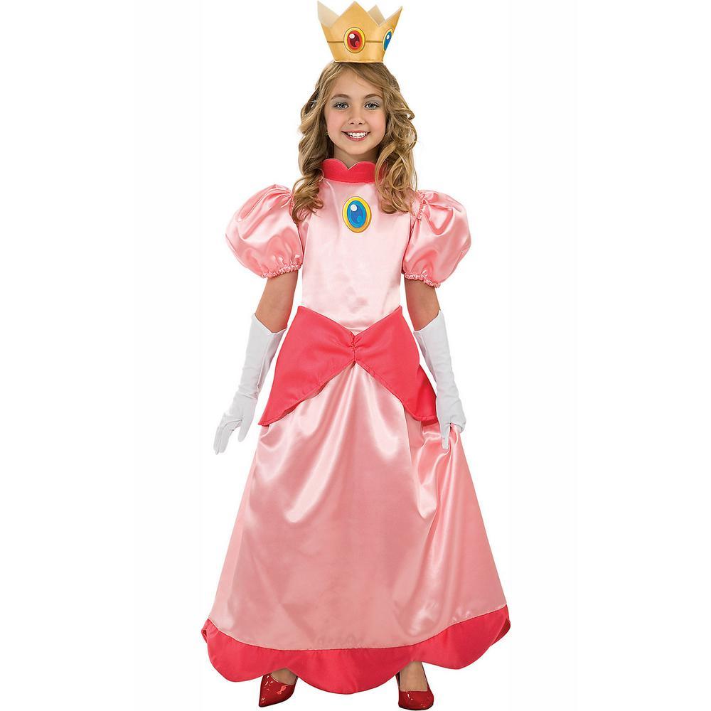 Medium Girls Deluxe Super Mario Princess Peach Costume