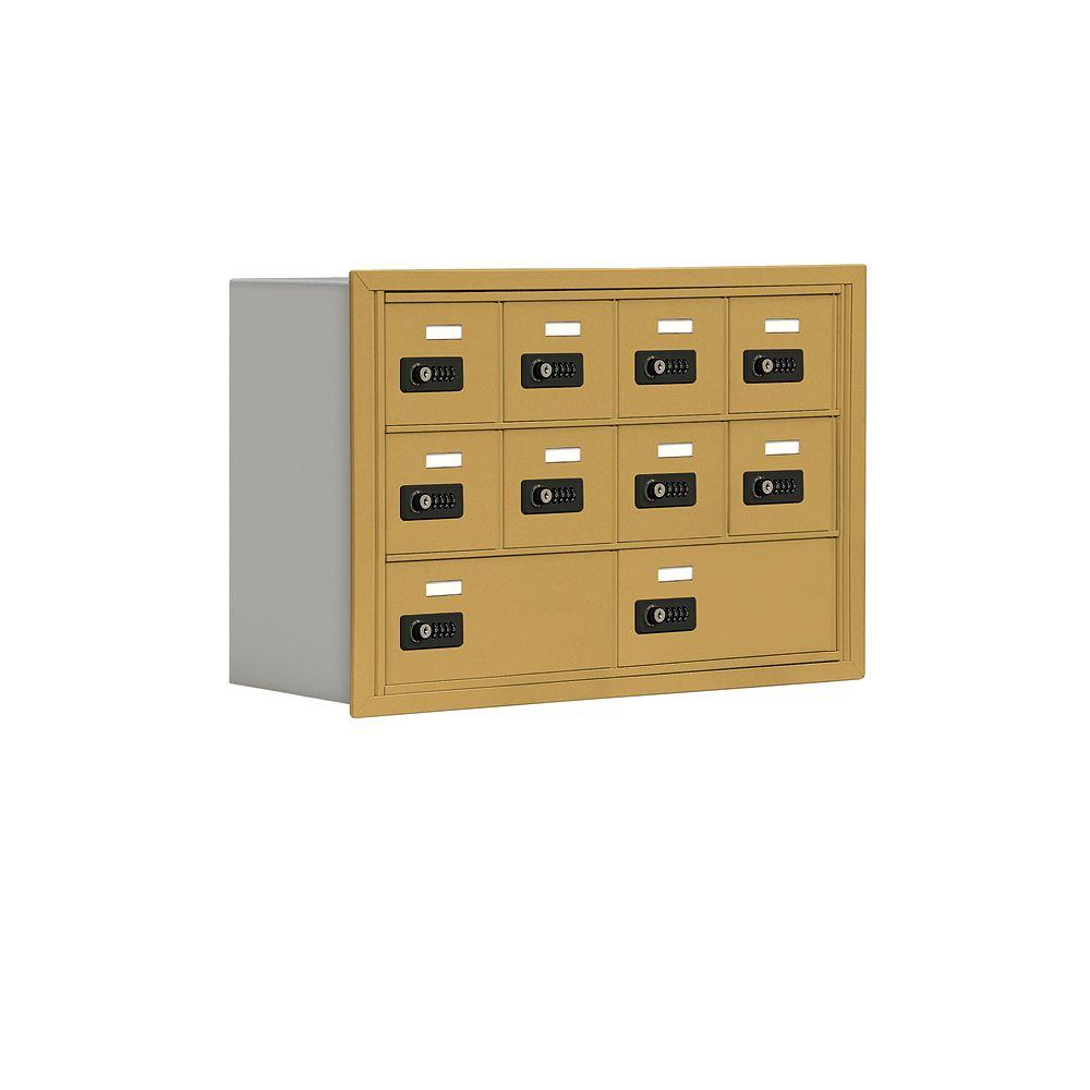 Salsbury Industries 19000 Series 30.5 in. W x 20 in. H x 8.75 in. D 8 A/2 B Doors R-Mount Resettable Locks Cell Phone Locker in Gold
