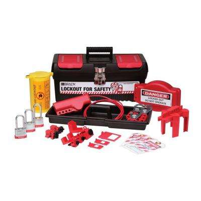 Personal Valve and Electrical Lockout Kit with 3 Keyed-Alike Steel Padlocks