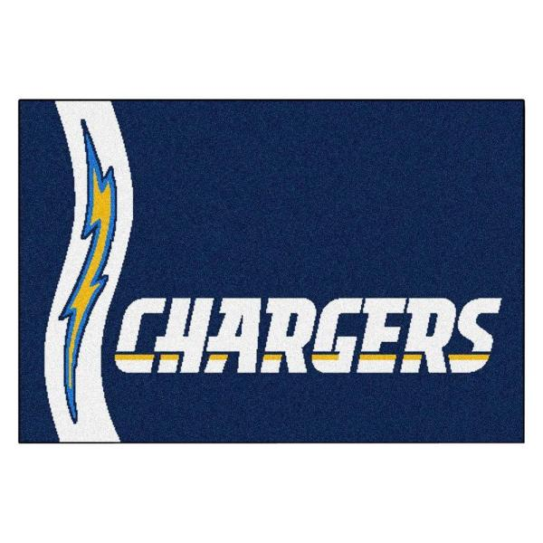 NFL - San Diego Chargers Blue Uniform Inspired 2 ft. x 3 ft. Area Rug