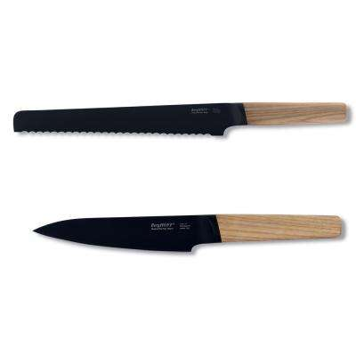 Ron 2-Piece Bread and Utility Knife Set in Natural