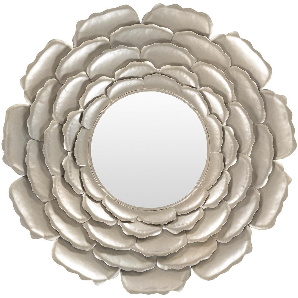 Luisa 32 in. x 32 in. Metal Framed Mirror