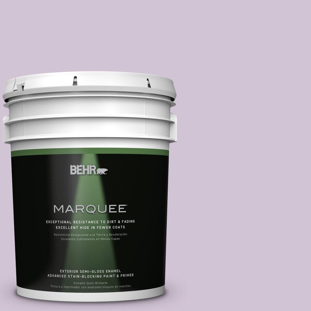 5-gal. #M100-2 Seedless Grape Semi-Gloss Enamel Exterior Paint